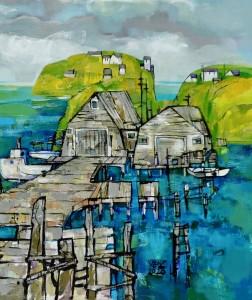 'Fisherman's Cove', 2020, 24_x36_, acrylic