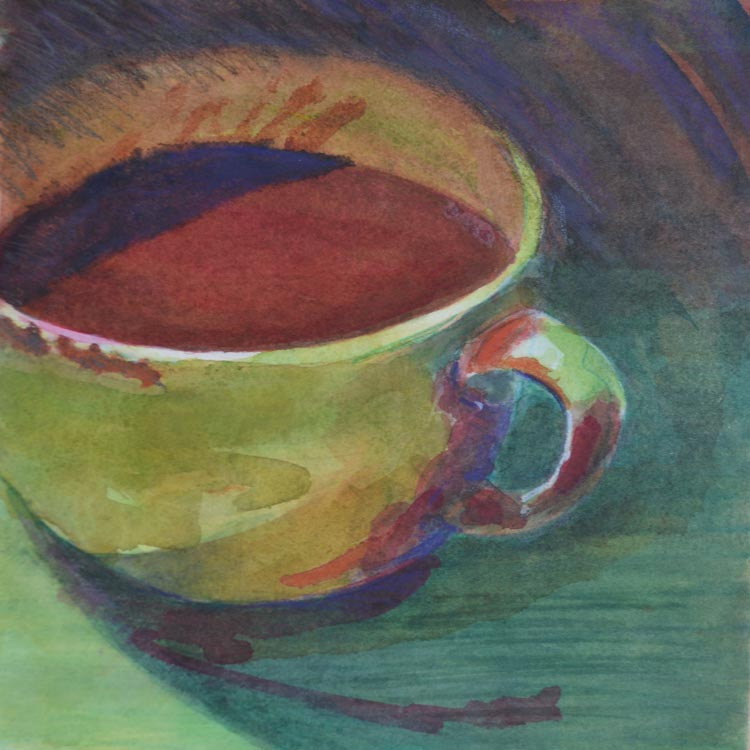 Barbara-Zuchowicz-Morning-Coffee-8-x-8-inches-water-media-2016